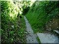 SU0255 : 'The footpath (EAST1) runs along the ridge' by Christine Johnstone