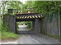 SK5426 : Railway bridge, Station Road by Alan Murray-Rust