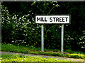 TM0771 : Mill Street sign by Adrian Cable