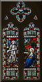 SK8789 : Annunciation Stained glass window, Ss George and Lawrence, Springthorpe by J.Hannan-Briggs