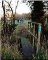 SP0575 : Footbridge across a ditch by the rugby ground, Forhill by Robin Stott