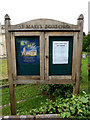 TL9640 : St. Mary's Church Notice Board by Adrian Cable