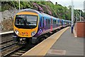 SD9702 : First TransPennine Class 185, 185139, Mossley railway station by El Pollock