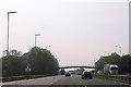 SJ6783 : Occupation bridge over M6 near Moss Lane by John Firth
