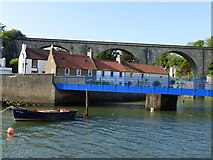 NO4102 : Bridge, cottages and railway viaduct, Lower Largo by kim traynor