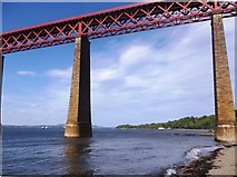 NT1378 : The southern end of the Forth Bridge by Stanley Howe