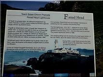 C2347 : Information board, Fanad Head by Kenneth  Allen