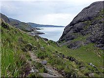 NG4919 : A short valley leading to Loch Nan Leachd by John Lucas