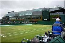 TQ2472 : Outer court near Centre Court at Wimbledon by Clint Mann