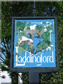 TQ6948 : Close up of the village sign at Laddingford by Marathon