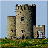 R0392 : County Clare - R478 - Cliffs of Moher - Closeup of O'Brien's Tower by Suzanne Mischyshyn