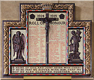 TQ4375 : St Luke, Westmount Road - War Memorial WWI by John Salmon