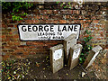 TL8247 : George Lane sign by Adrian Cable