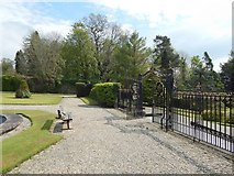 NS2982 : Hermitage Park: gate of the walled garden by Lairich Rig