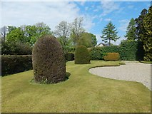 NS2982 : Hermitage Park: the walled garden by Lairich Rig