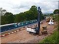 ST2787 : Construction of a railway station, Bassaleg, Newport by Robin Drayton