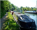 SO7509 : Moored narrowboats SE of Saul Junction by Jaggery