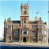 SD3036 : Blackpool Town Hall by Gerald England