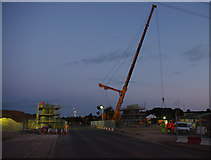 SD4764 : Bridge construction over Slyne Road (A6) by Ian Taylor