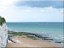 TR4068 : Beach at Stone Bay by Chris Whippet