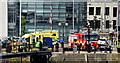 J3474 : Fire appliances and ambulances, Donegall Quay, Belfast - June 2014(1) by Albert Bridge