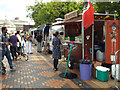 SP0686 : The Mexican Bean and other street food outlets, Centenary Square, Birmingham by Robin Stott