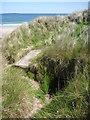 NU1934 : Coastal Northumberland : Entrance to Coastal Pillbox Between Bamburgh and Seahouses by Richard West