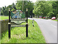 SK5451 : Papplewick village sign, Blidworth Waye by Alan Murray-Rust