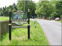 SK5451 : Papplewick village sign, Blidworth Waye by Alan Murray-Rust