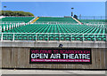 TA0389 : Seating at Scarborough Open Air Theatre by Pauline E