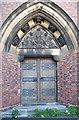 SP0884 : St Agatha, Sparkbrook - Doorway by John Salmon