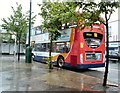 SJ9594 : Bus in the rain by Gerald England