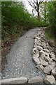 NS3795 : New path for the West Highland Way climbing into Ross Wood by Tim Heaton