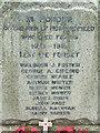 TM3473 : Roll of Honour by Keith Evans
