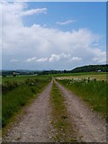NT7039 : Access Track Near Stichill Stables by James T M Towill