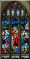 TF0226 : Stained glass window, St Andrew's church, Irnham by J.Hannan-Briggs