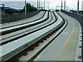 NT2272 : Tram lines at Murrayfield by Thomas Nugent