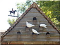 SY7395 : Waterston: dovecote and  weathervane at the manor house by Chris Downer