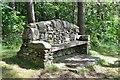 NT4528 : Memorial seat, Philiphaugh by Jim Barton