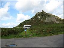 SS7049 : Rural roundabout-Lynton, North Devon by Martin Richard Phelan