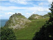 SS7049 : View into the valley-Lynton, North Devon by Martin Richard Phelan