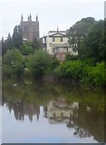 SO5139 : Hereford Cathedral from Victoria Bridge by Ceri Thomas