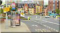 J3573 : Bus stop and bus lane, Albertbridge Road (EWAY), Belfast - June 2014(1) by Albert Bridge
