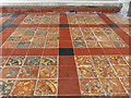 SP8104 : Monks Risborough - St Dunstan's - Mediaeval tiles by Rob Farrow