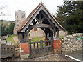SJ2633 : Lychgate at Selattyn church by Row17
