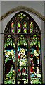 TM3780 : Stained Glass Window of St. Peter's Church by Adrian Cable