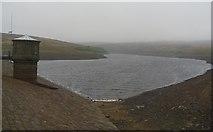 SD9633 : Walshaw dean middle reservoir. by steven ruffles