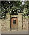 SX9164 : Door in wall, St Marychurch Road, Torquay by Derek Harper