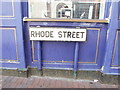 TQ7667 : Vintage street nameplate, Rhode Street, Chatham by Chris Whippet