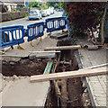 SP2965 : Gas main junction, Mercia Way, 2 June by Robin Stott